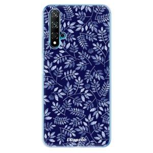 Odolné silikonové pouzdro iSaprio - Blue Leaves 05 na mobil Huawei Nova 5T / Honor 20 - poslední kousek za tuto cenu