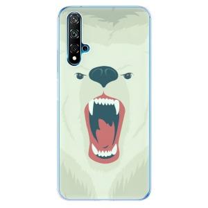 Odolné silikonové pouzdro iSaprio - Angry Bear na mobil Huawei Nova 5T / Honor 20