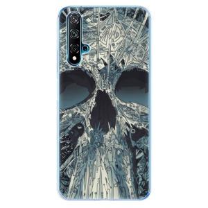 Odolné silikonové pouzdro iSaprio - Abstract Skull na mobil Huawei Nova 5T / Honor 20