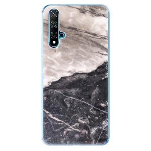 Odolné silikonové pouzdro iSaprio - BW Marble na mobil Huawei Nova 5T / Honor 20