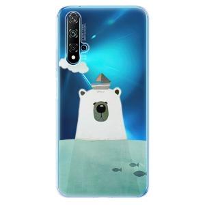 Odolné silikonové pouzdro iSaprio - Bear With Boat na mobil Huawei Nova 5T / Honor 20