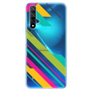 Odolné silikonové pouzdro iSaprio - Color Stripes 03 na mobil Huawei Nova 5T / Honor 20