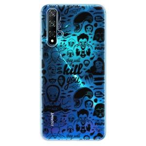 Odolné silikonové pouzdro iSaprio - Comics 01 - black na mobil Huawei Nova 5T / Honor 20
