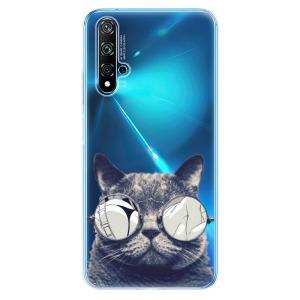 Odolné silikonové pouzdro iSaprio - Crazy Cat 01 na mobil Huawei Nova 5T / Honor 20