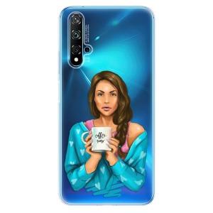 Odolné silikonové pouzdro iSaprio - Coffe Now - Brunette na mobil Huawei Nova 5T / Honor 20
