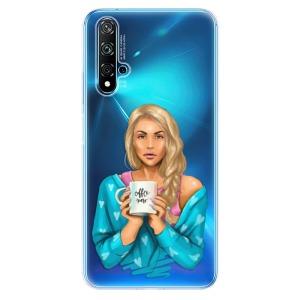 Odolné silikonové pouzdro iSaprio - Coffe Now - Blond na mobil Huawei Nova 5T / Honor 20
