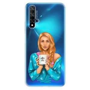 Odolné silikonové pouzdro iSaprio - Coffe Now - Redhead na mobil Huawei Nova 5T / Honor 20