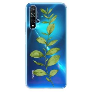 Odolné silikonové pouzdro iSaprio - Green Plant 01 na mobil Huawei Nova 5T / Honor 20 - poslední kousek za tuto cenu