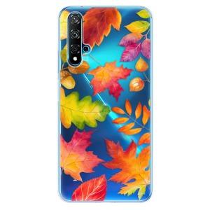 Odolné silikonové pouzdro iSaprio - Autumn Leaves 01 na mobil Huawei Nova 5T / Honor 20