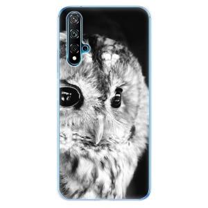 Odolné silikonové pouzdro iSaprio - BW Owl na mobil Huawei Nova 5T / Honor 20