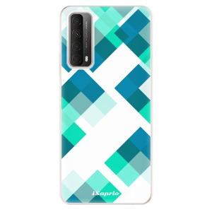 Odolné silikonové pouzdro iSaprio - Abstract Squares 11 na mobil Huawei P Smart 2021