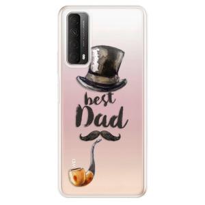 Odolné silikonové pouzdro iSaprio - Best Dad na mobil Huawei P Smart 2021