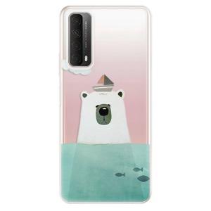 Odolné silikonové pouzdro iSaprio - Bear With Boat na mobil Huawei P Smart 2021