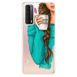 Odolné silikonové pouzdro iSaprio - My Coffe and Brunette Girl na mobil Huawei P Smart 2021