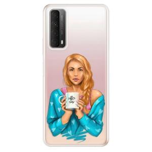 Odolné silikonové pouzdro iSaprio - Coffe Now - Redhead na mobil Huawei P Smart 2021