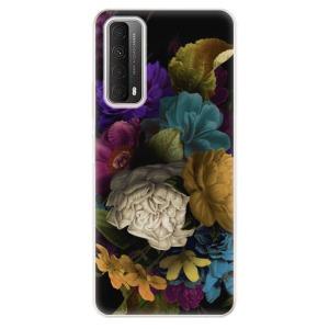 Odolné silikonové pouzdro iSaprio - Dark Flowers na mobil Huawei P Smart 2021 - výprodej