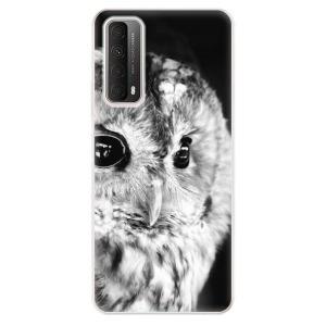 Odolné silikonové pouzdro iSaprio - BW Owl na mobil Huawei P Smart 2021