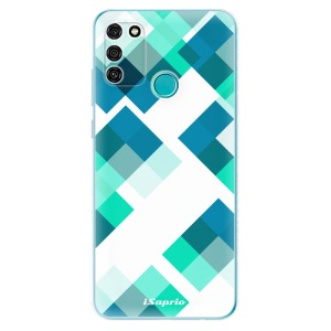 Odolné silikonové pouzdro iSaprio - Abstract Squares 11 na mobil Honor 9A