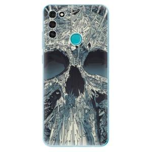 Odolné silikonové pouzdro iSaprio - Abstract Skull na mobil Honor 9A