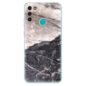 Odolné silikonové pouzdro iSaprio - BW Marble na mobil Honor 9A