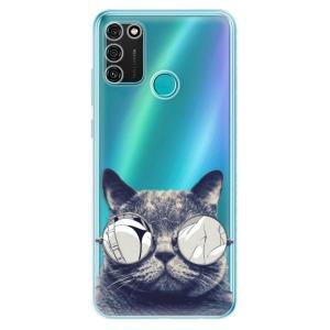 Odolné silikonové pouzdro iSaprio - Crazy Cat 01 na mobil Honor 9A