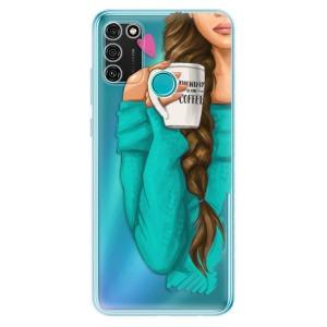 Odolné silikonové pouzdro iSaprio - My Coffe and Brunette Girl na mobil Honor 9A