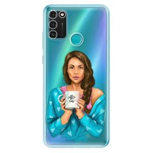 Odolné silikonové pouzdro iSaprio - Coffe Now - Brunette na mobil Honor 9A