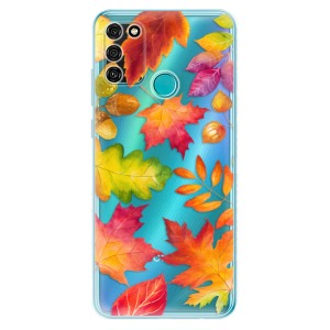 Odolné silikonové pouzdro iSaprio - Autumn Leaves 01 na mobil Honor 9A