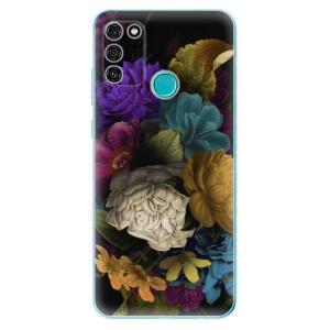 Odolné silikonové pouzdro iSaprio - Dark Flowers na mobil Honor 9A