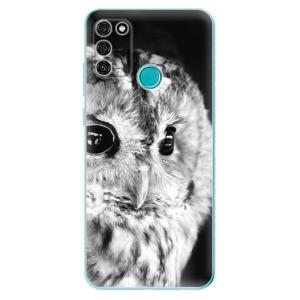 Odolné silikonové pouzdro iSaprio - BW Owl na mobil Honor 9A