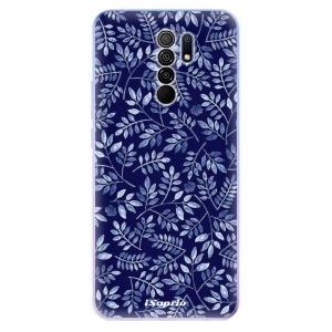 Odolné silikonové pouzdro iSaprio - Blue Leaves 05 na mobil Xiaomi Redmi 9