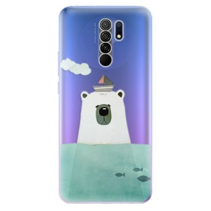 Odolné silikonové pouzdro iSaprio - Bear With Boat na mobil Xiaomi Redmi 9