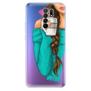 Odolné silikonové pouzdro iSaprio - My Coffe and Brunette Girl na mobil Xiaomi Redmi 9