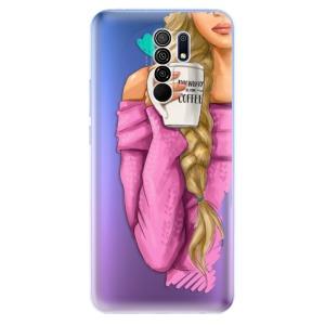 Odolné silikonové pouzdro iSaprio - My Coffe and Blond Girl na mobil Xiaomi Redmi 9