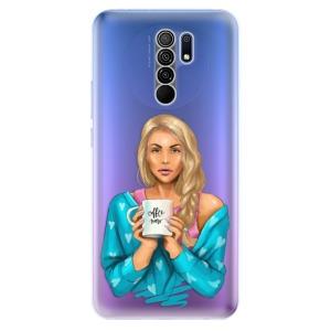 Odolné silikonové pouzdro iSaprio - Coffe Now - Blond na mobil Xiaomi Redmi 9