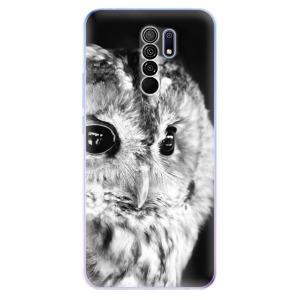 Odolné silikonové pouzdro iSaprio - BW Owl na mobil Xiaomi Redmi 9