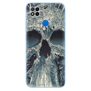 Odolné silikonové pouzdro iSaprio - Abstract Skull na mobil Xiaomi Redmi 9C