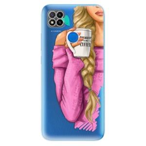 Odolné silikonové pouzdro iSaprio - My Coffe and Blond Girl na mobil Xiaomi Redmi 9C
