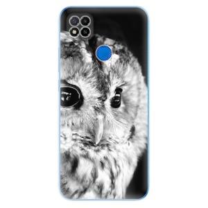 Odolné silikonové pouzdro iSaprio - BW Owl na mobil Xiaomi Redmi 9C