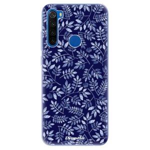 Odolné silikonové pouzdro iSaprio - Blue Leaves 05 na mobil Xiaomi Redmi Note 8T