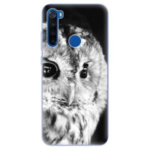 Odolné silikonové pouzdro iSaprio - BW Owl na mobil Xiaomi Redmi Note 8T