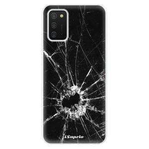 Odolné silikonové pouzdro iSaprio - Broken Glass 10 na mobil Samsung Galaxy A02s