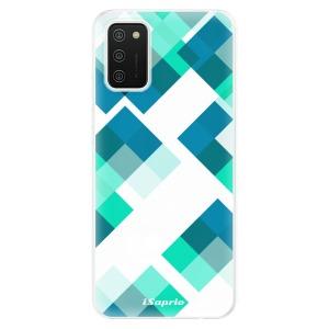 Odolné silikonové pouzdro iSaprio - Abstract Squares 11 na mobil Samsung Galaxy A02s
