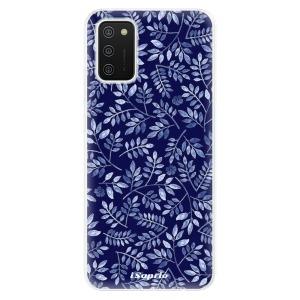 Odolné silikonové pouzdro iSaprio - Blue Leaves 05 na mobil Samsung Galaxy A02s