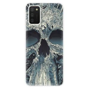 Odolné silikonové pouzdro iSaprio - Abstract Skull na mobil Samsung Galaxy A02s