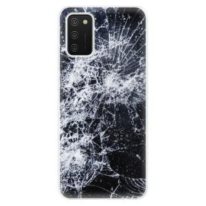 Odolné silikonové pouzdro iSaprio - Cracked na mobil Samsung Galaxy A02s