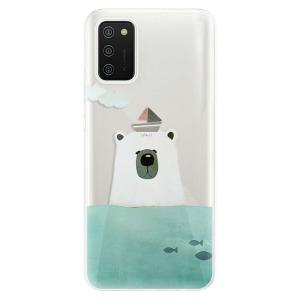 Odolné silikonové pouzdro iSaprio - Bear With Boat na mobil Samsung Galaxy A02s