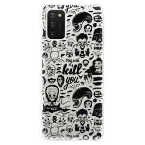 Odolné silikonové pouzdro iSaprio - Comics 01 - black na mobil Samsung Galaxy A02s