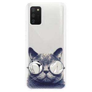 Odolné silikonové pouzdro iSaprio - Crazy Cat 01 na mobil Samsung Galaxy A02s