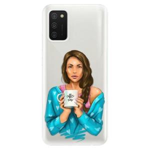 Odolné silikonové pouzdro iSaprio - Coffe Now - Brunette na mobil Samsung Galaxy A02s